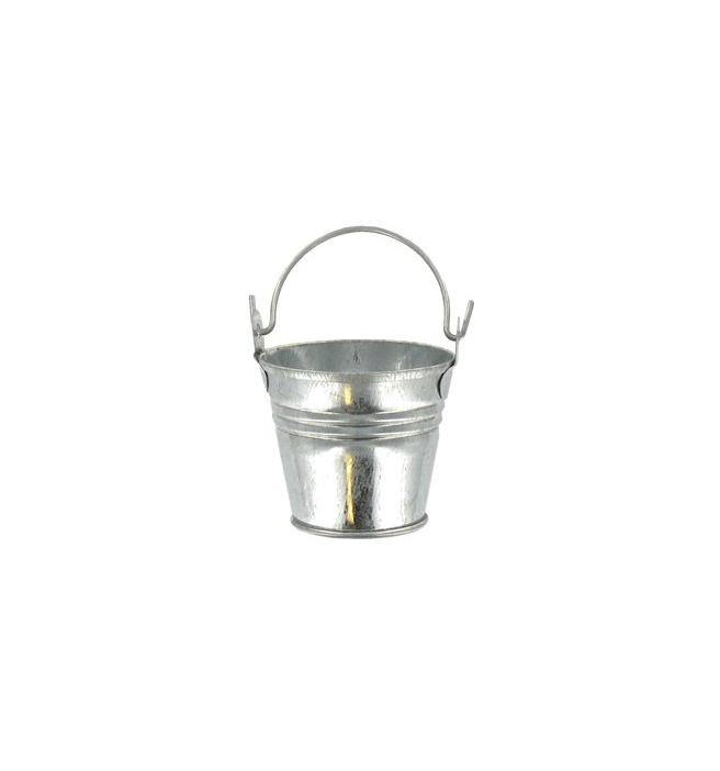 mini galvanized pail metal tin pail small metal bucket